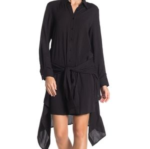 NWT: Long Sleeve Tie Front Shirt Dress